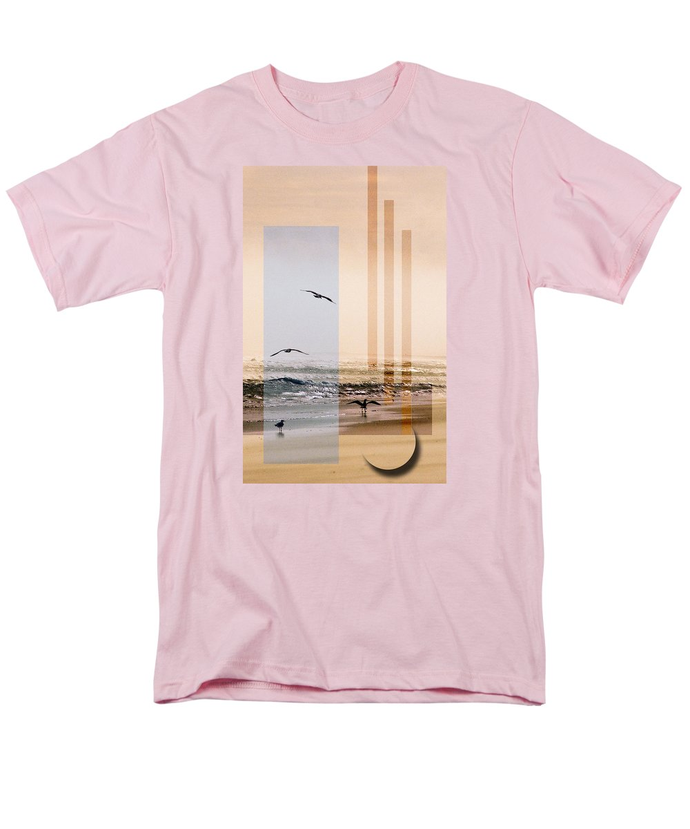 Abstract Men's T-Shirt (Regular Fit) featuring the photograph Shore Collage by Steve Karol