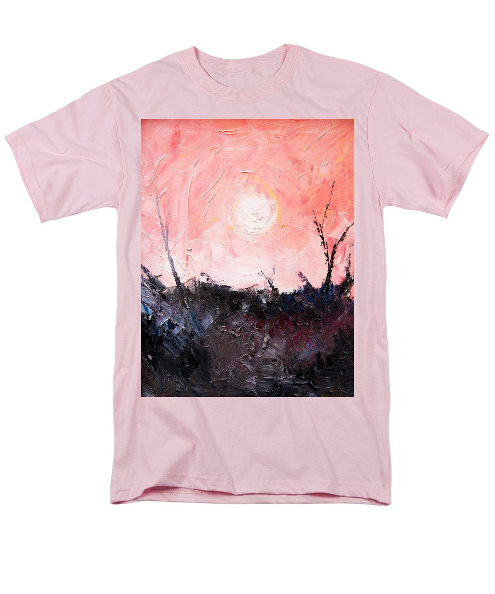Duck Men's T-Shirt (Regular Fit) featuring the painting White Sun by Sergey Bezhinets