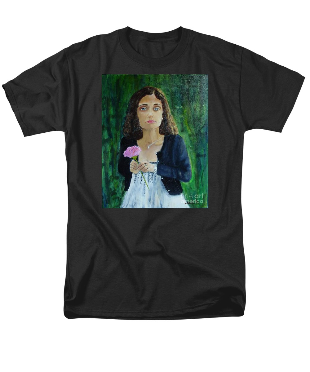 Portrait Men's T-Shirt (Regular Fit) featuring the painting Aly by Laurie Morgan
