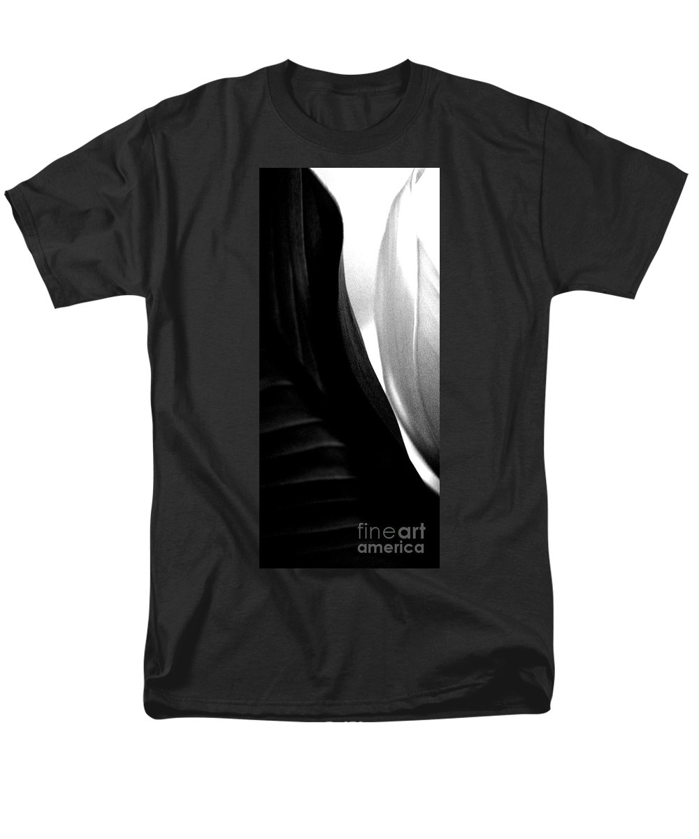 black And White Prints Men's T-Shirt (Regular Fit) featuring the photograph Balance by Amanda Barcon