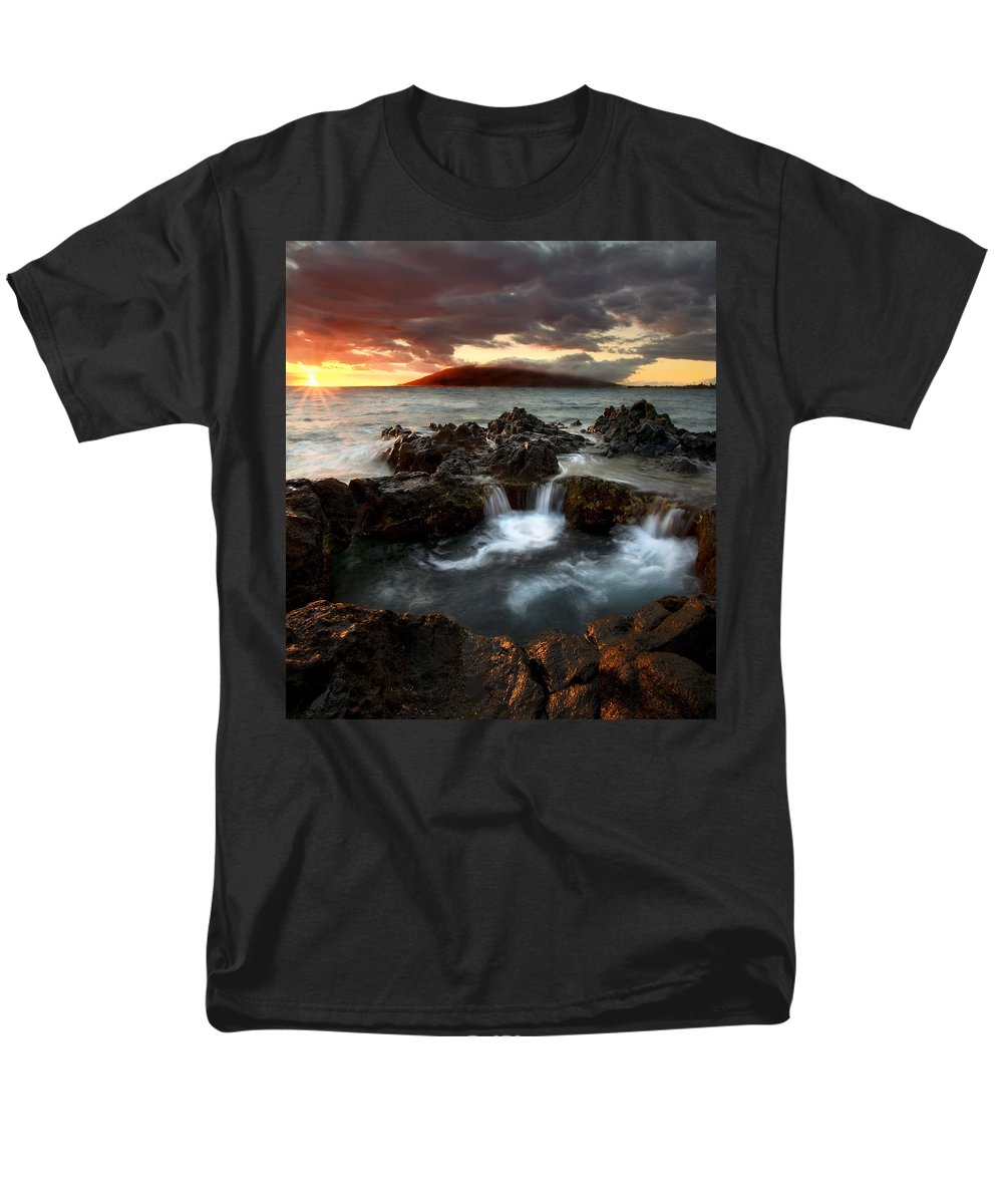 Sunset Men's T-Shirt (Regular Fit) featuring the photograph Bubbling Cauldron by Mike Dawson