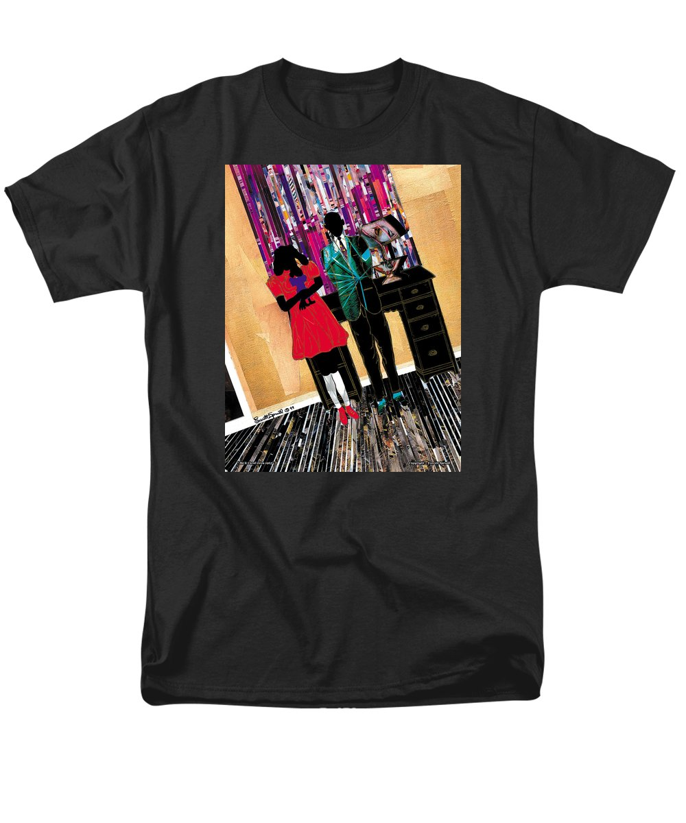 Everett Spruill Men's T-Shirt (Regular Fit) featuring the painting Me and Carol by Everett Spruill
