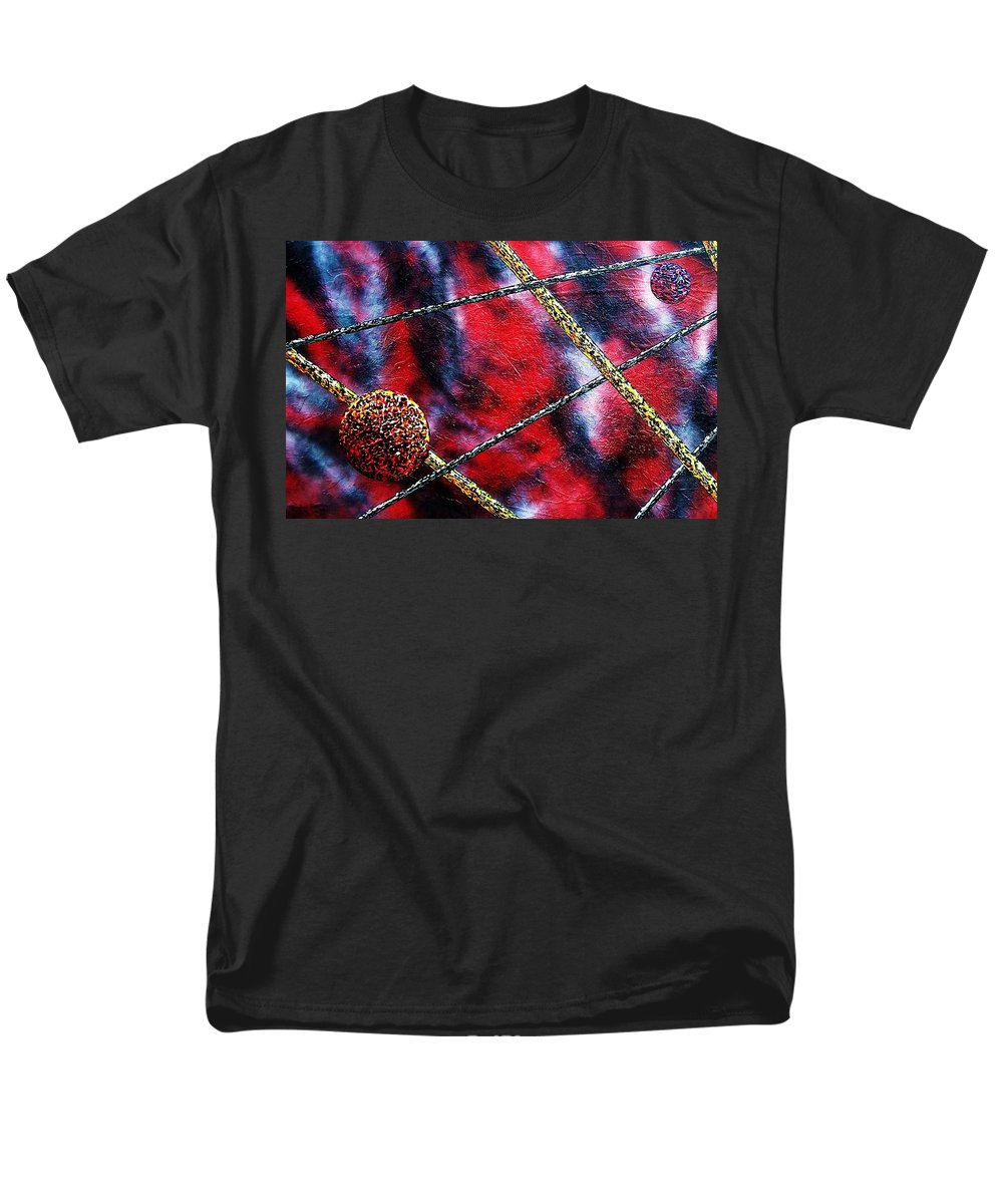 Abstract Men's T-Shirt (Regular Fit) featuring the painting Continuum Iv Red Sky by Micah Guenther