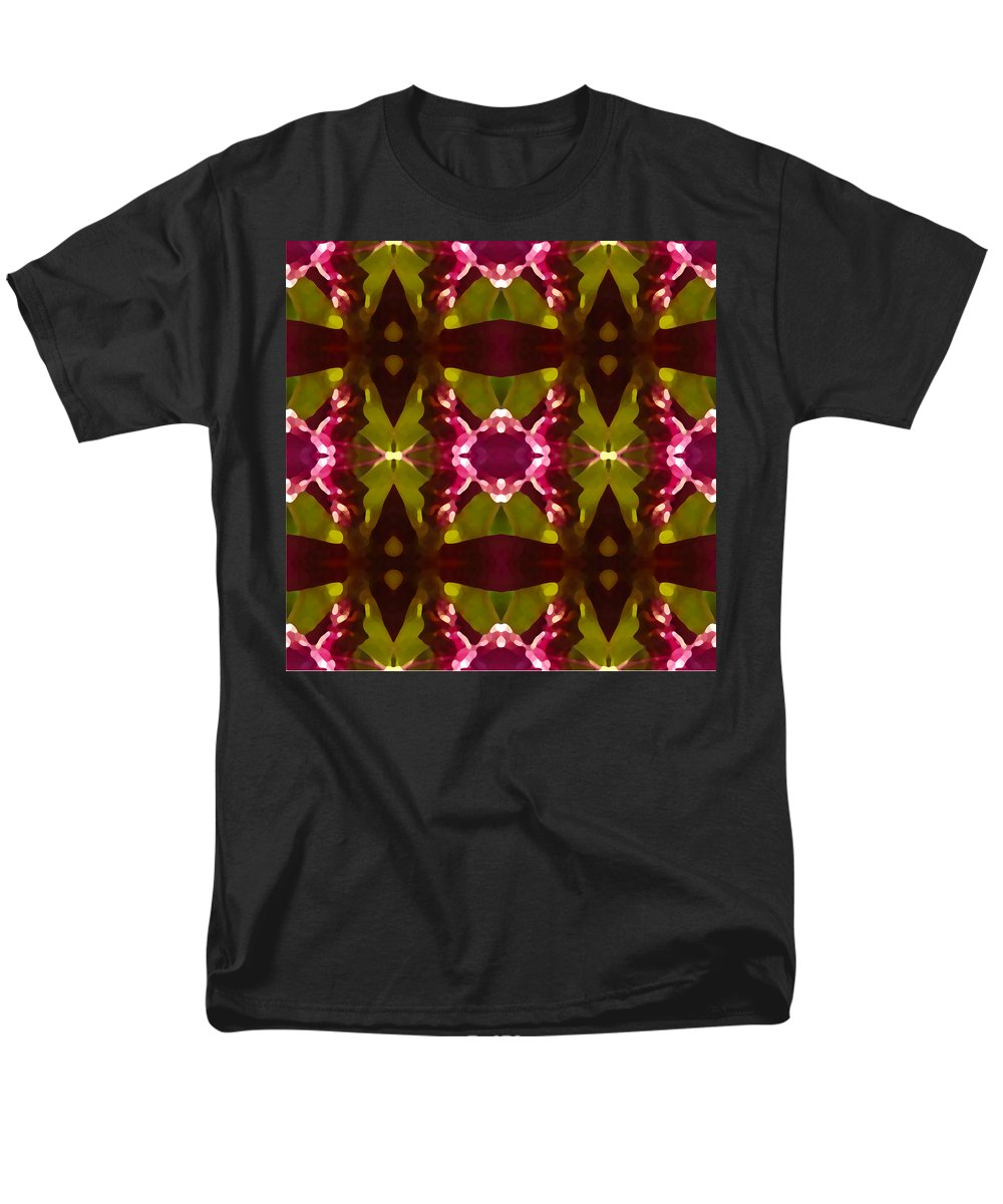 Abstract Men's T-Shirt (Regular Fit) featuring the painting Crystal Butterfly Pattern by Amy Vangsgard