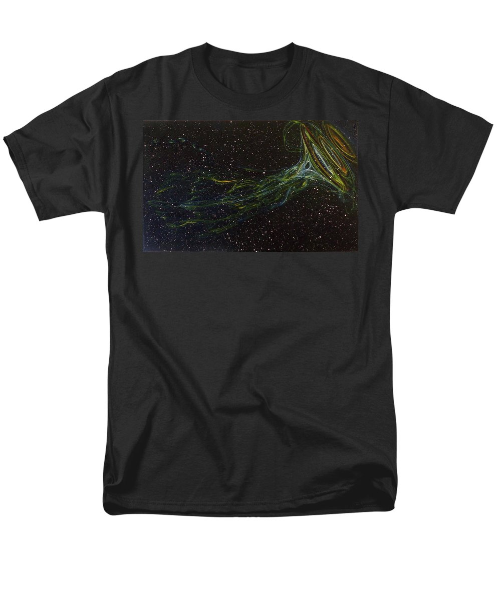 Abstract Men's T-Shirt (Regular Fit) featuring the painting Death Throes by Sean Connolly