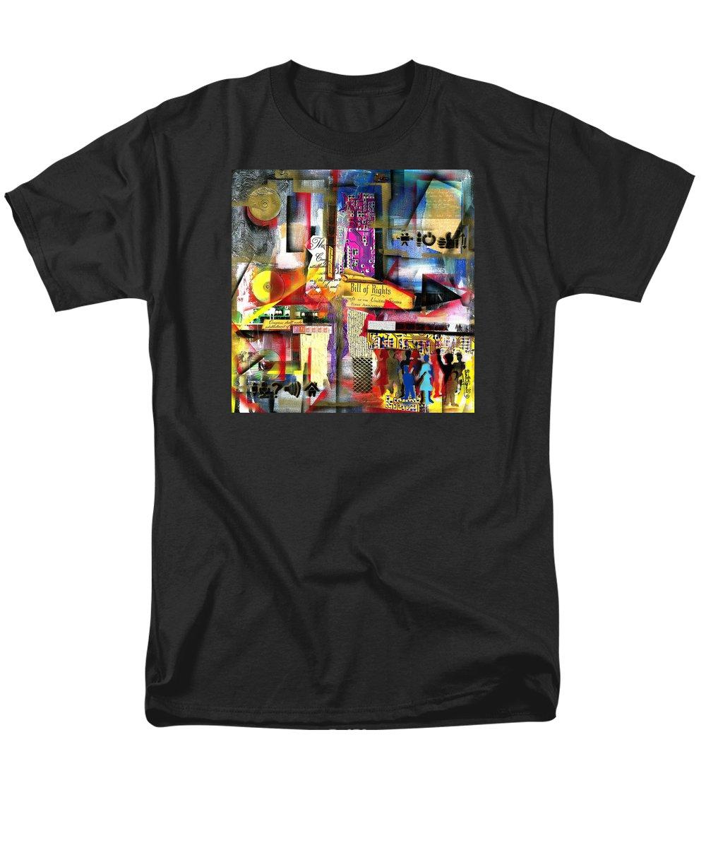 Everett Spruill Men's T-Shirt (Regular Fit) featuring the painting Freedom of Speech 3 by Everett Spruill