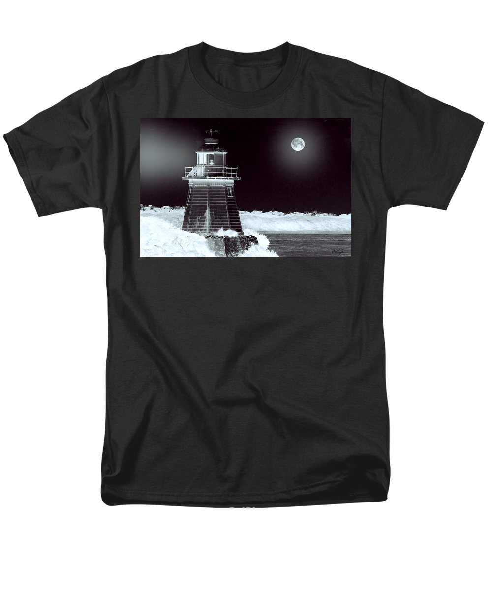 Landscapes Men's T-Shirt (Regular Fit) featuring the photograph Guiding Lights by Holly Kempe