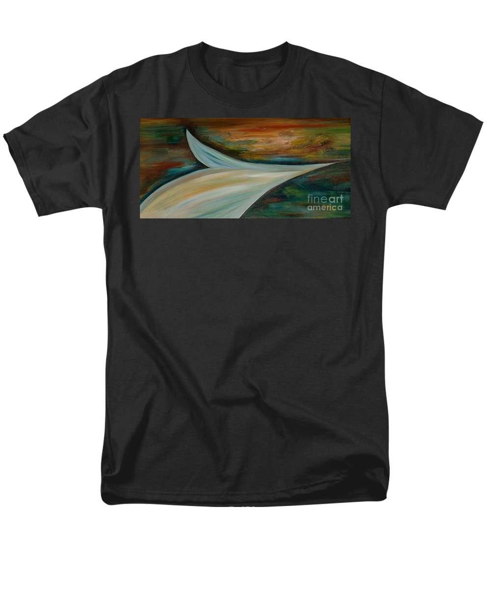Abstract Men's T-Shirt (Regular Fit) featuring the painting Heaven by Silvana Abel