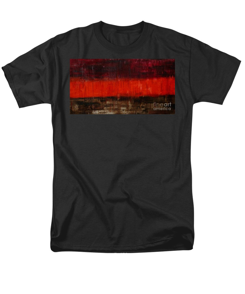 Abstract Men's T-Shirt (Regular Fit) featuring the painting High Energy by Silvana Abel
