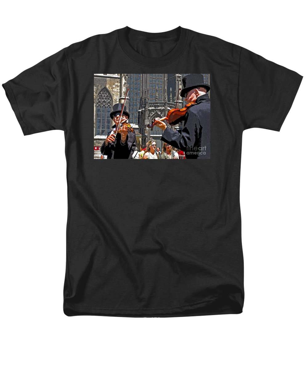 Buskers Men's T-Shirt (Regular Fit) featuring the photograph Mozart in Masquerade by Ann Horn