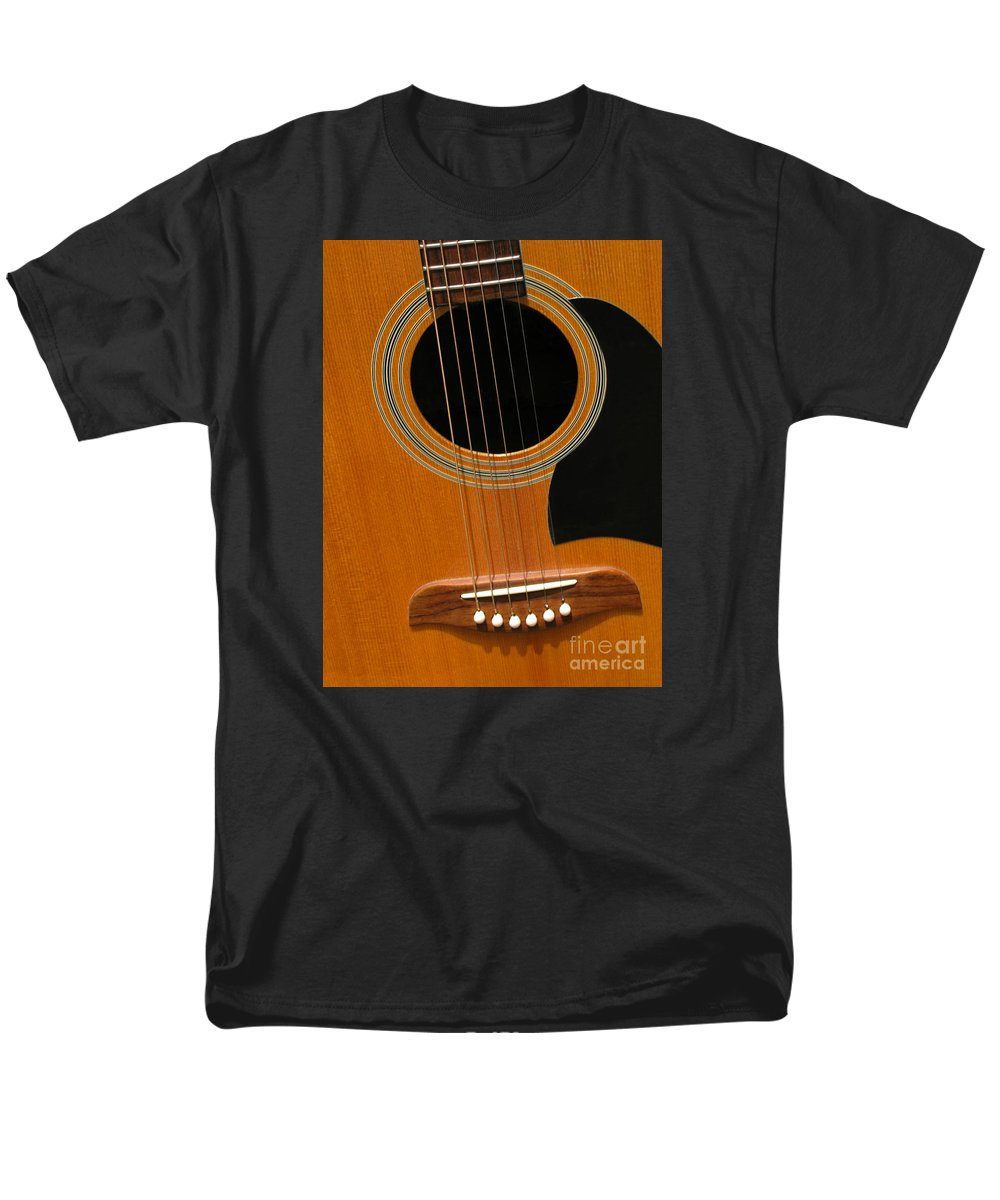Guitar Men's T-Shirt (Regular Fit) featuring the photograph Musical Abstraction by Ann Horn