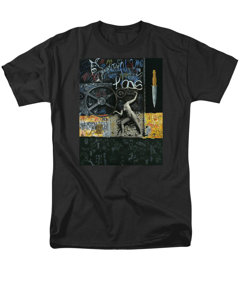 City Men's T-Shirt (Regular Fit) featuring the painting New York City by Yelena Tylkina
