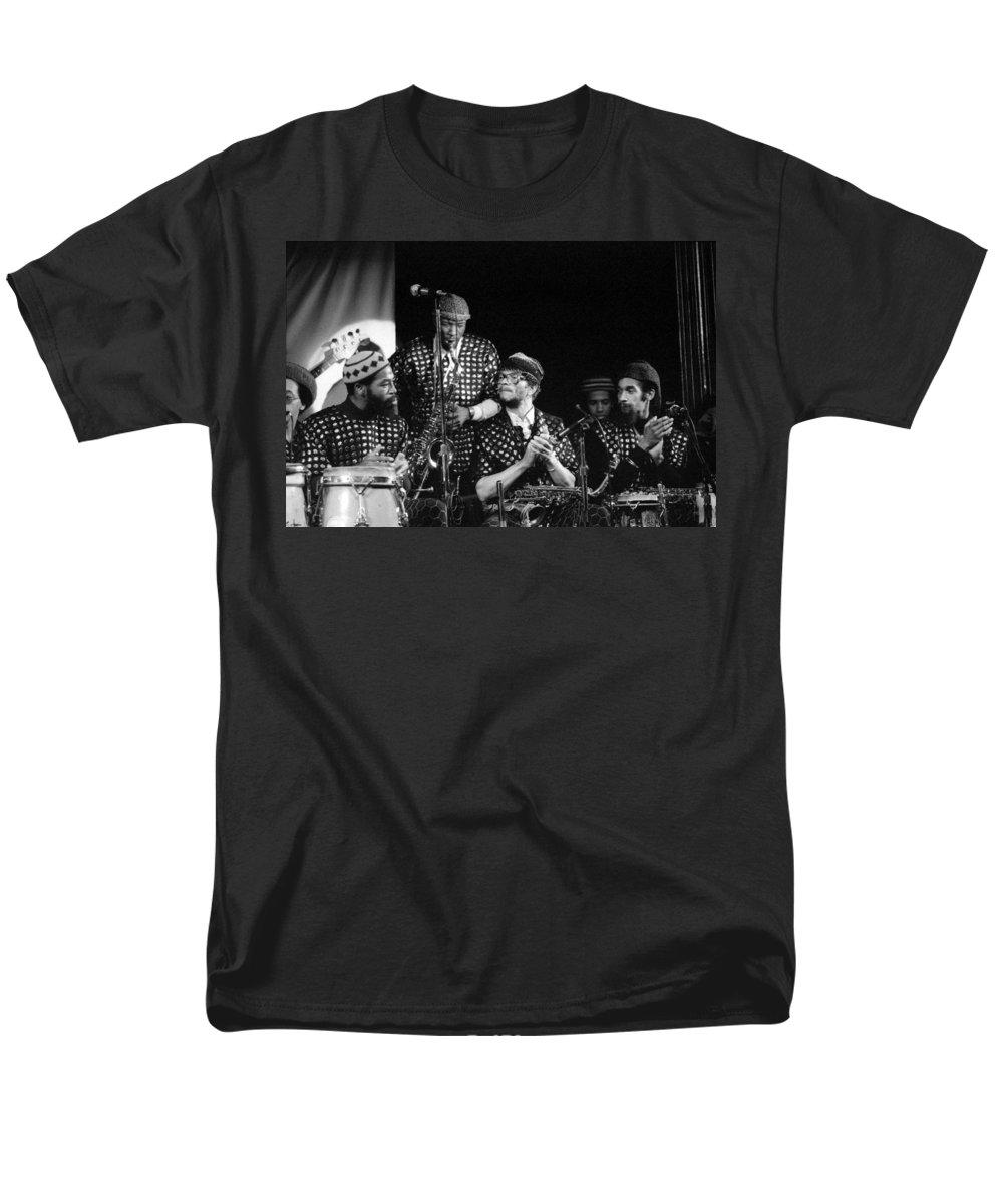 Jazz Men's T-Shirt (Regular Fit) featuring the photograph Sun Ra Arkestra with John Gilmore by Lee Santa