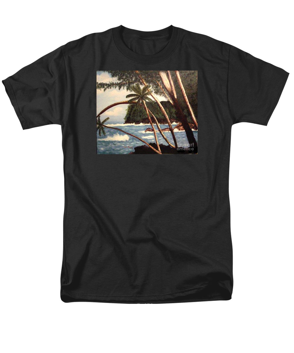 Hawaii Men's T-Shirt (Regular Fit) featuring the painting The Big Island by Laurie Morgan
