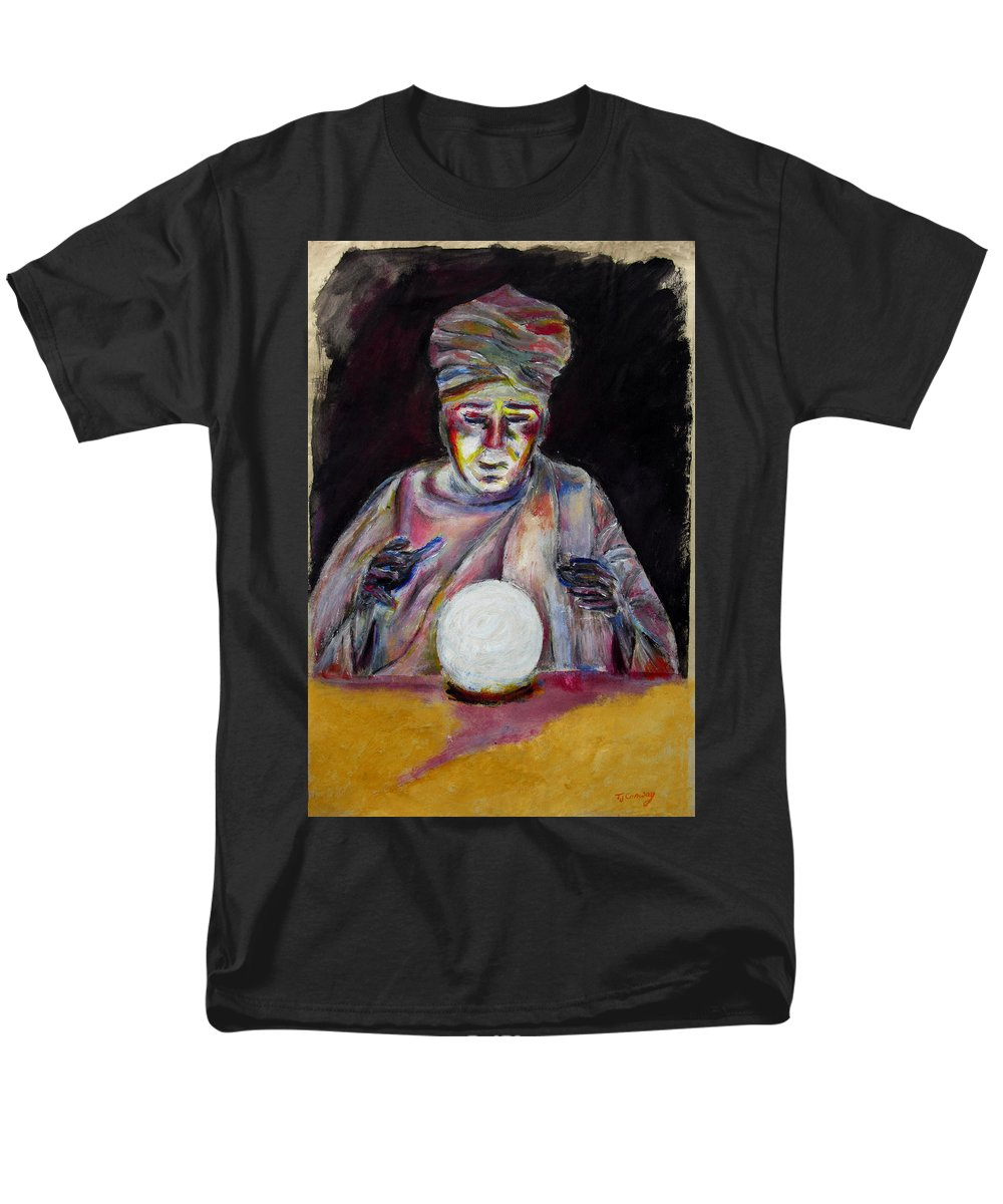 Fortune Tellers Men's T-Shirt (Regular Fit) featuring the painting The Fortune Teller by Tom Conway