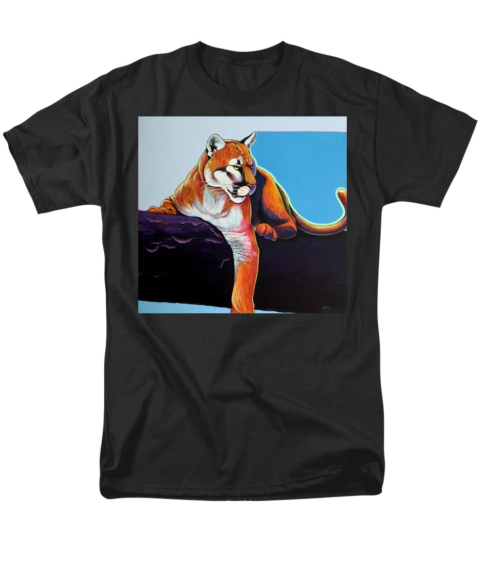 Wildlife Men's T-Shirt (Regular Fit) featuring the painting The Toll Collector by Joe Triano