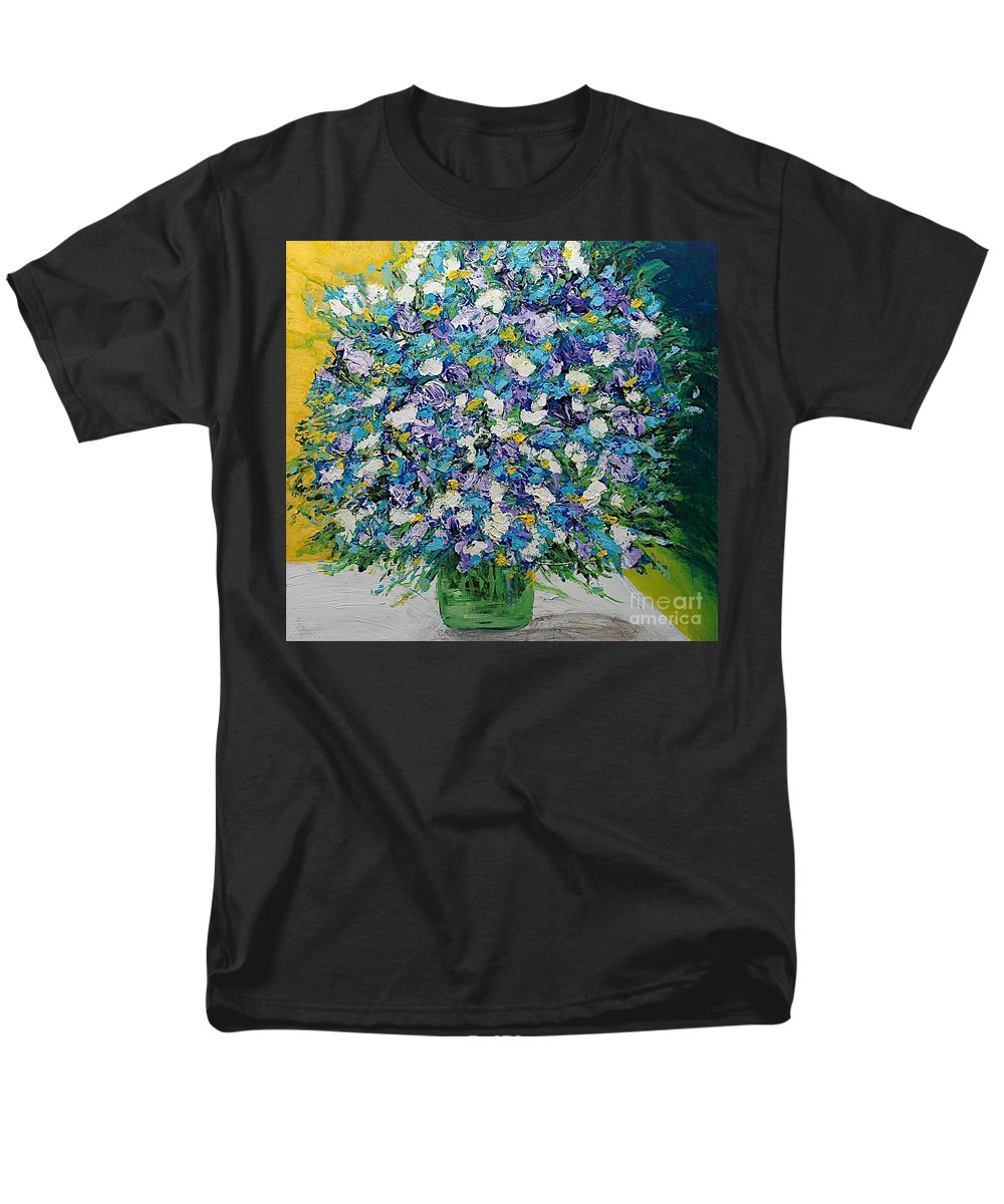 Landscape Men's T-Shirt (Regular Fit) featuring the painting To Have and Delight by Allan P Friedlander