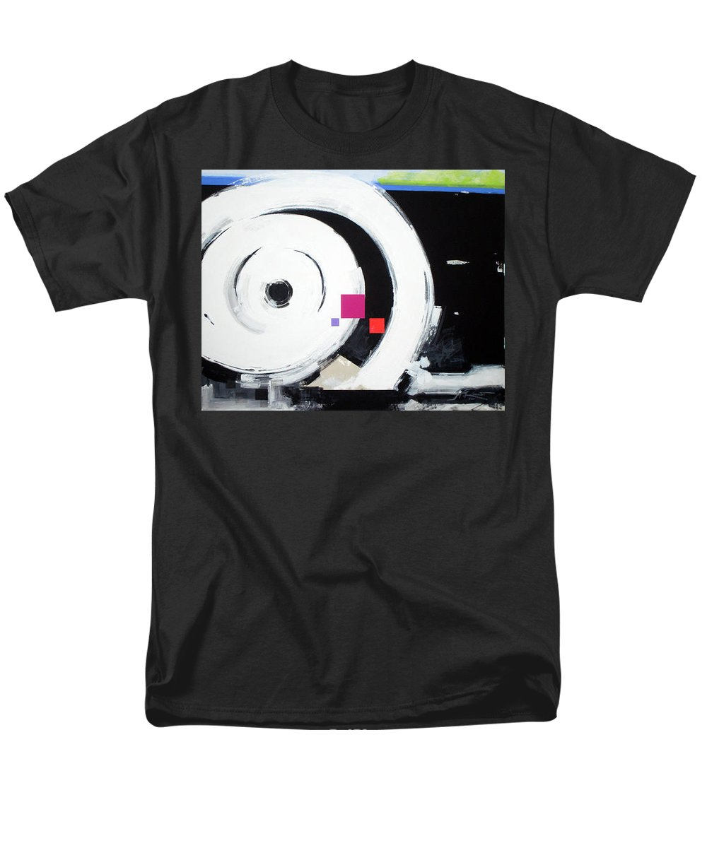 Abstract Men's T-Shirt (Regular Fit) featuring the painting Wheel Of Fortune by Jean Pierre Rousselet
