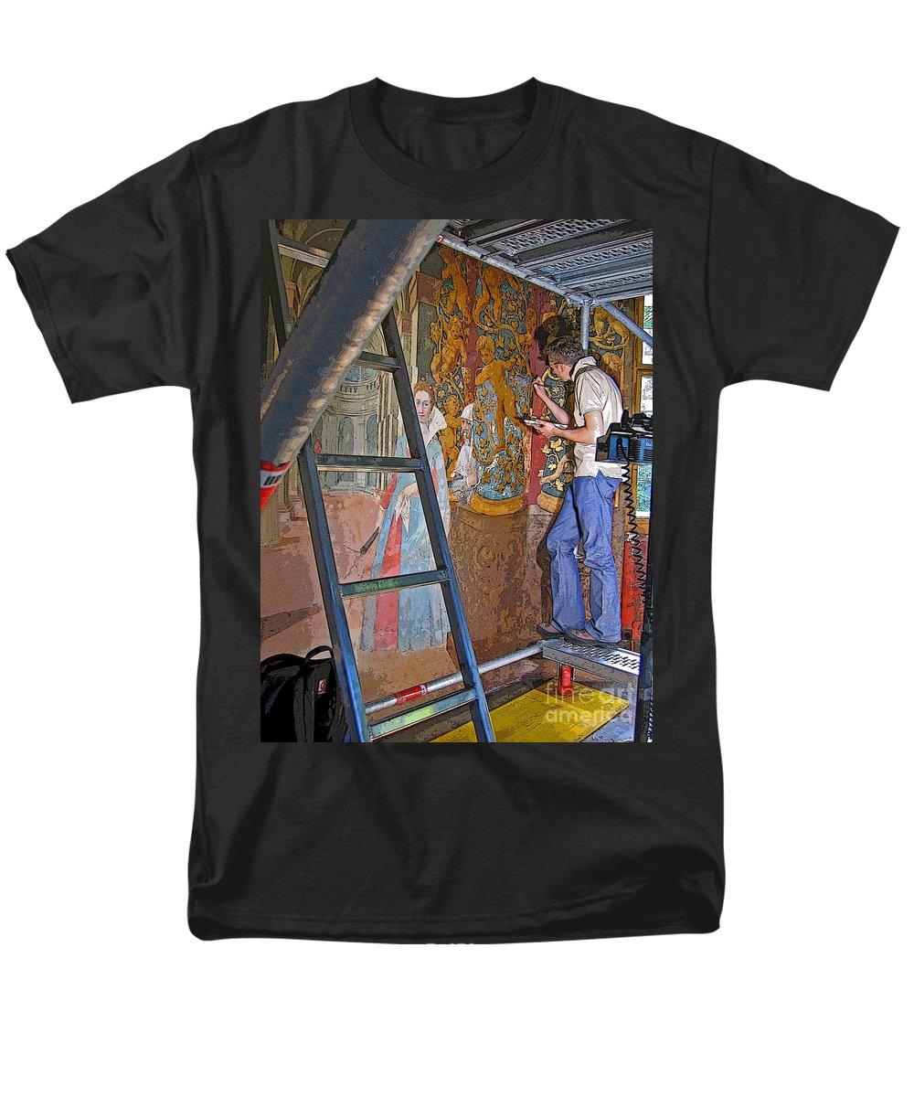 Artist Men's T-Shirt (Regular Fit) featuring the photograph Restoring Art by Ann Horn