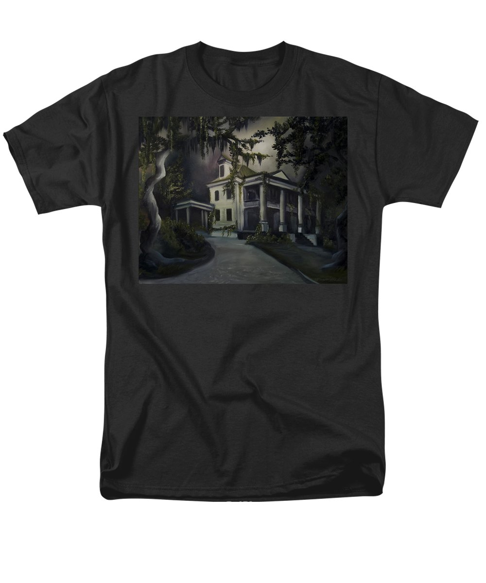 Ruins Men's T-Shirt (Regular Fit) featuring the painting The Dark Plantation by James Christopher Hill