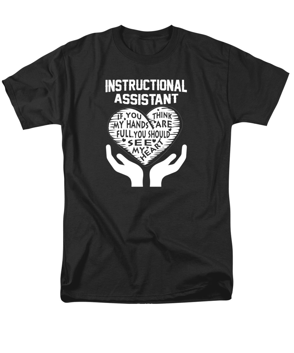 instructional assistant t shirt for by sophia instructive men s t shirt regular fit featuring the digital art instructional assistant by