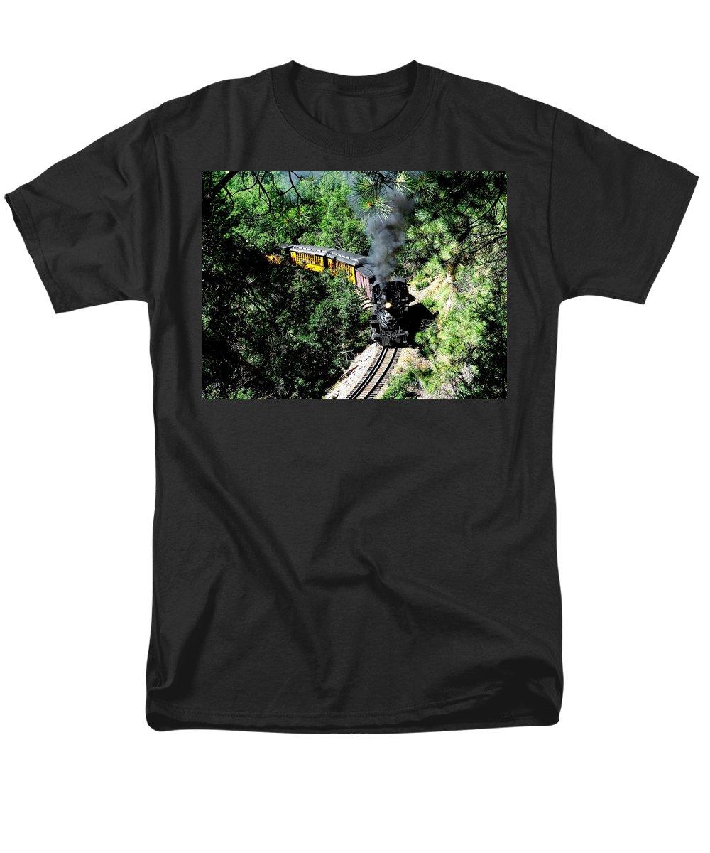 Train Men's T-Shirt (Regular Fit) featuring the photograph Nostalgic Moments by Carol Milisen