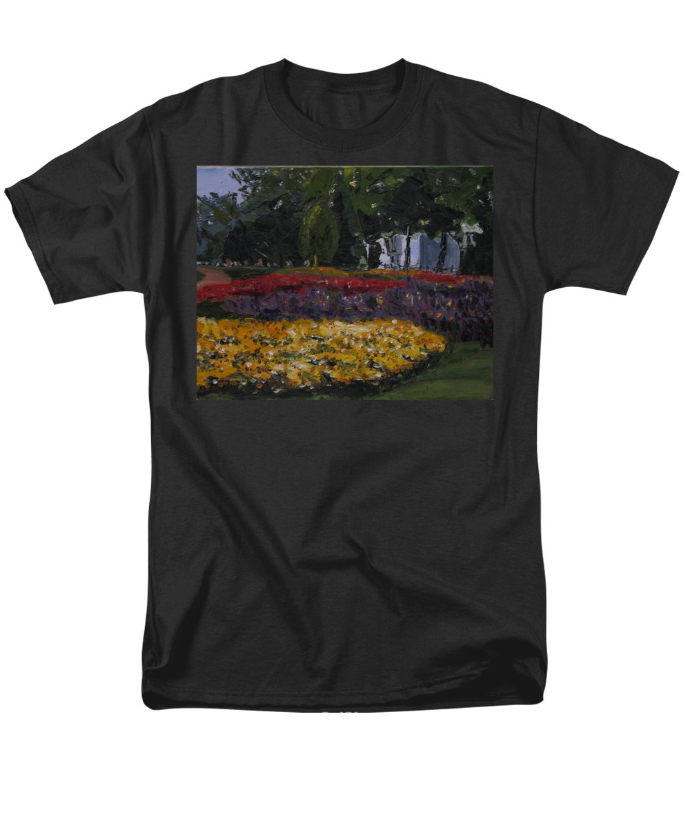 Landscape Men's T-Shirt (Regular Fit) featuring the painting A Park in Cambrige by Piety Choi