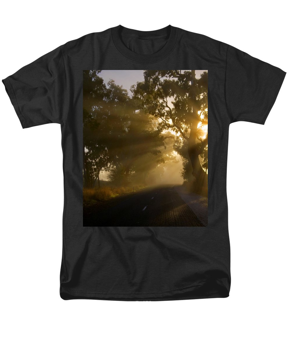 Highway Men's T-Shirt (Regular Fit) featuring the photograph A Road less Traveled by Mike Dawson