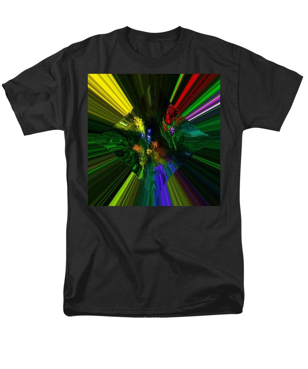 Digital Painting Men's T-Shirt (Regular Fit) featuring the digital art Abstract Garden by David Lane