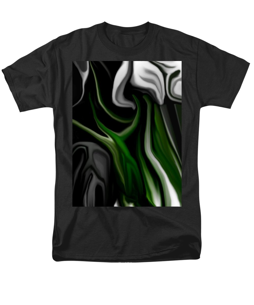 Abstract Men's T-Shirt (Regular Fit) featuring the digital art Abstract309h by David Lane