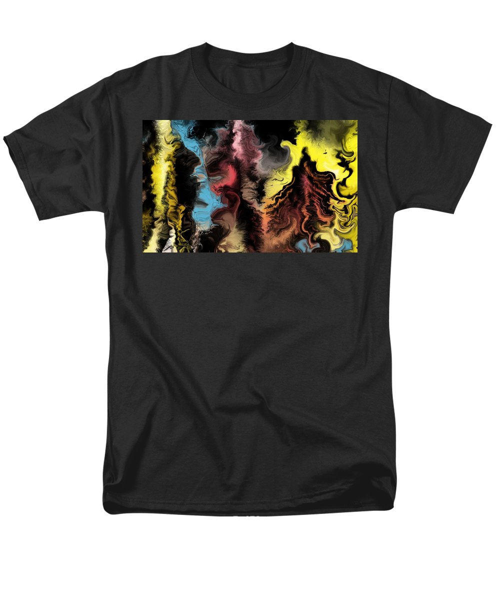 Abstract Men's T-Shirt (Regular Fit) featuring the digital art Abstract309i by David Lane