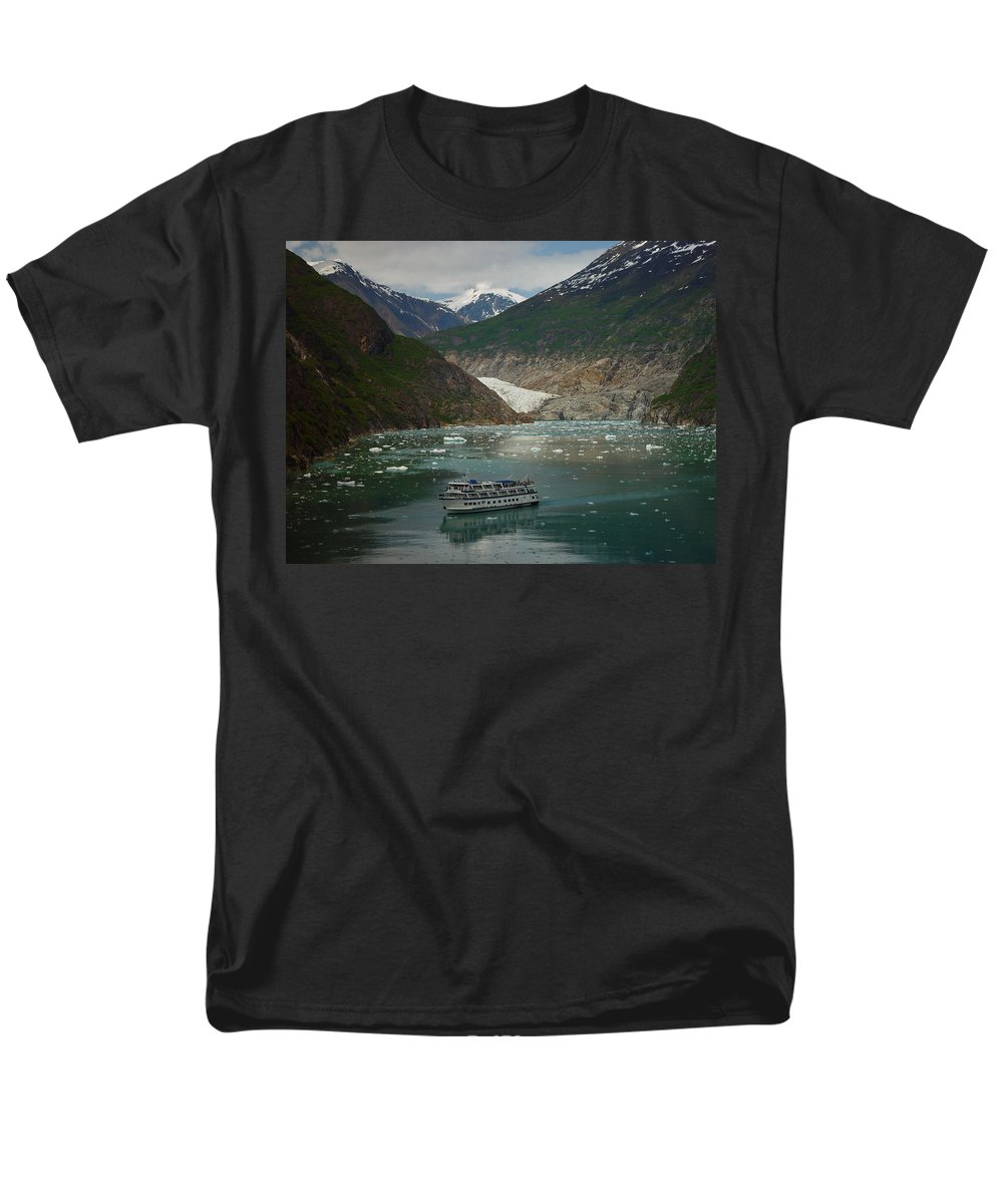 Alaska Men's T-Shirt (Regular Fit) featuring the photograph Alaska Endicott Glacier by Heather Coen