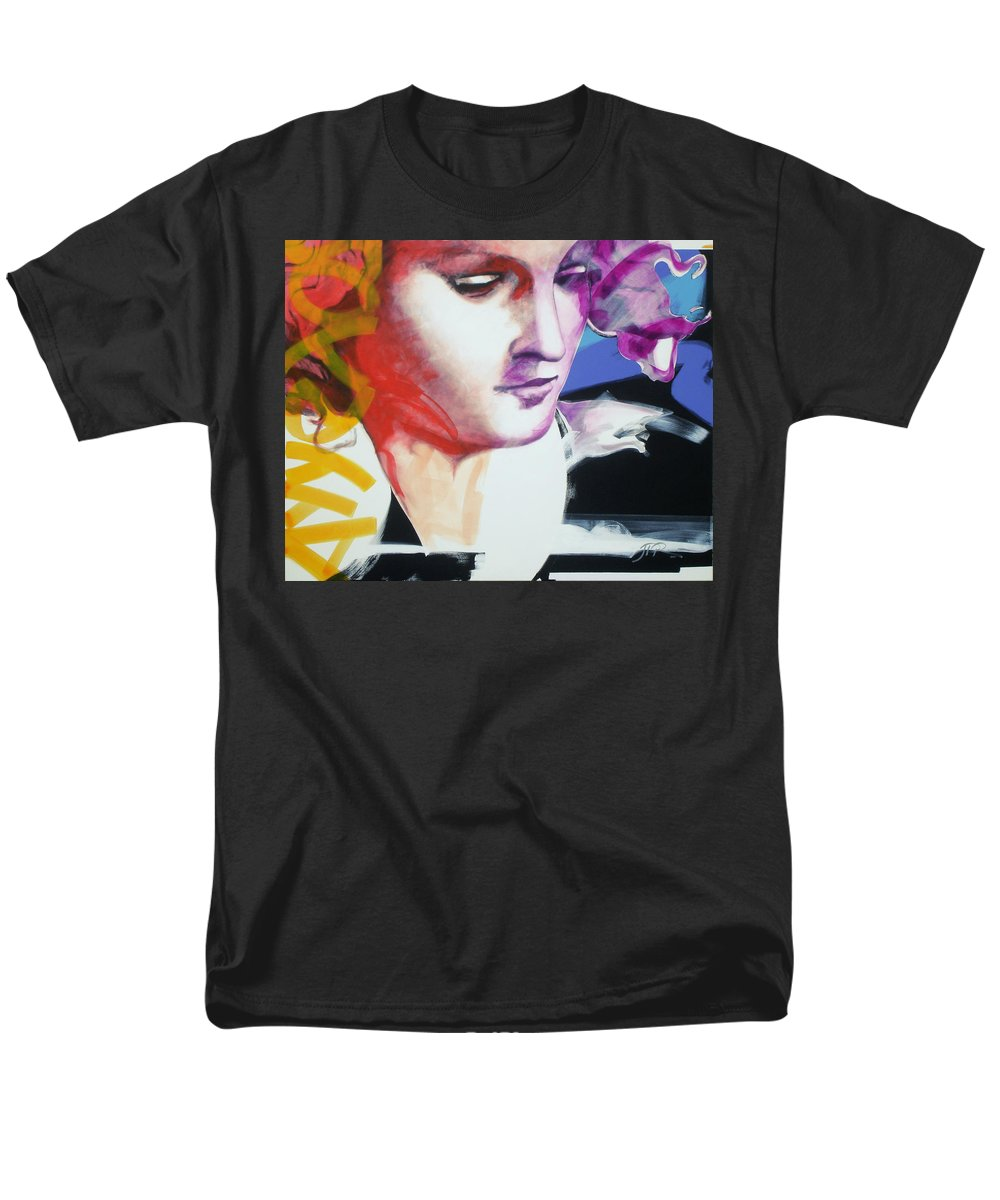 Pop Men's T-Shirt (Regular Fit) featuring the painting Angel by Jean Pierre Rousselet