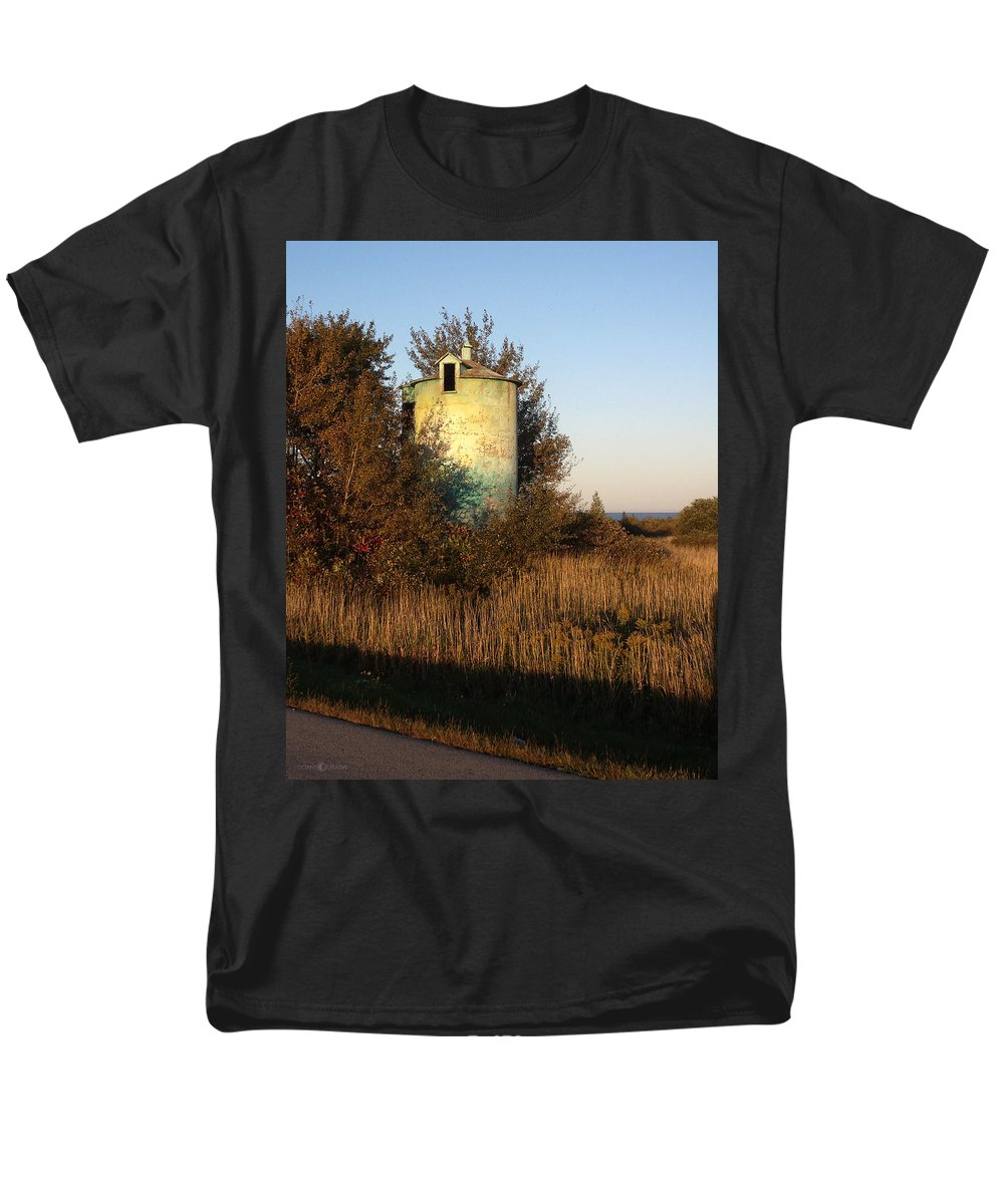 Silo Men's T-Shirt (Regular Fit) featuring the photograph Aqua Silo by Tim Nyberg