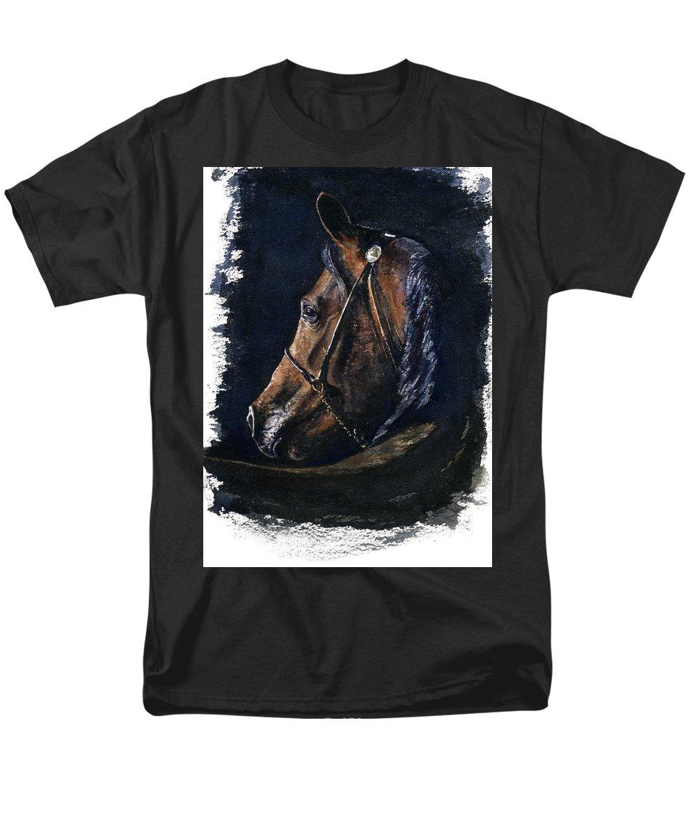 Horse Men's T-Shirt (Regular Fit) featuring the painting Arabian by John D Benson