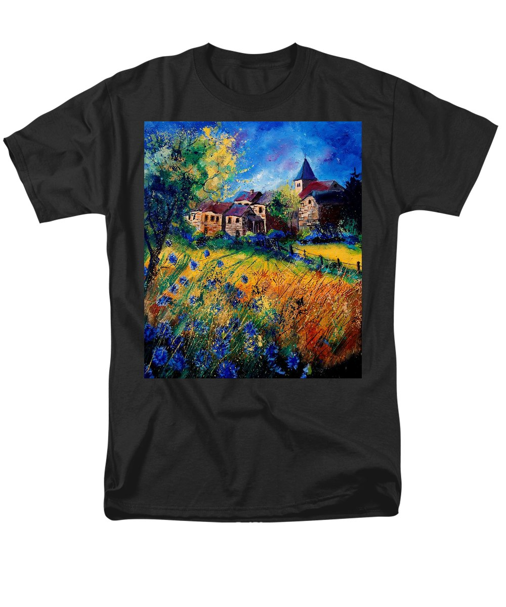 Tree Men's T-Shirt (Regular Fit) featuring the painting Awagne 67 by Pol Ledent