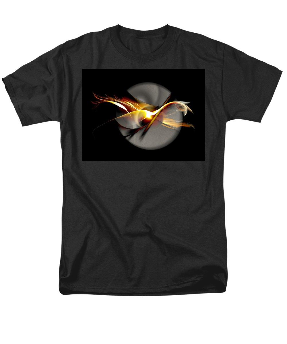 Bird Men's T-Shirt (Regular Fit) featuring the digital art Bird Of Passage by Aniko Hencz
