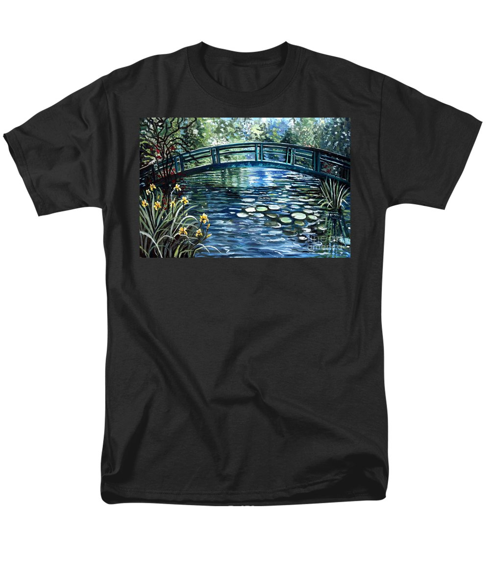 Impressionistic Men's T-Shirt (Regular Fit) featuring the painting Blue Lagoon by Elizabeth Robinette Tyndall