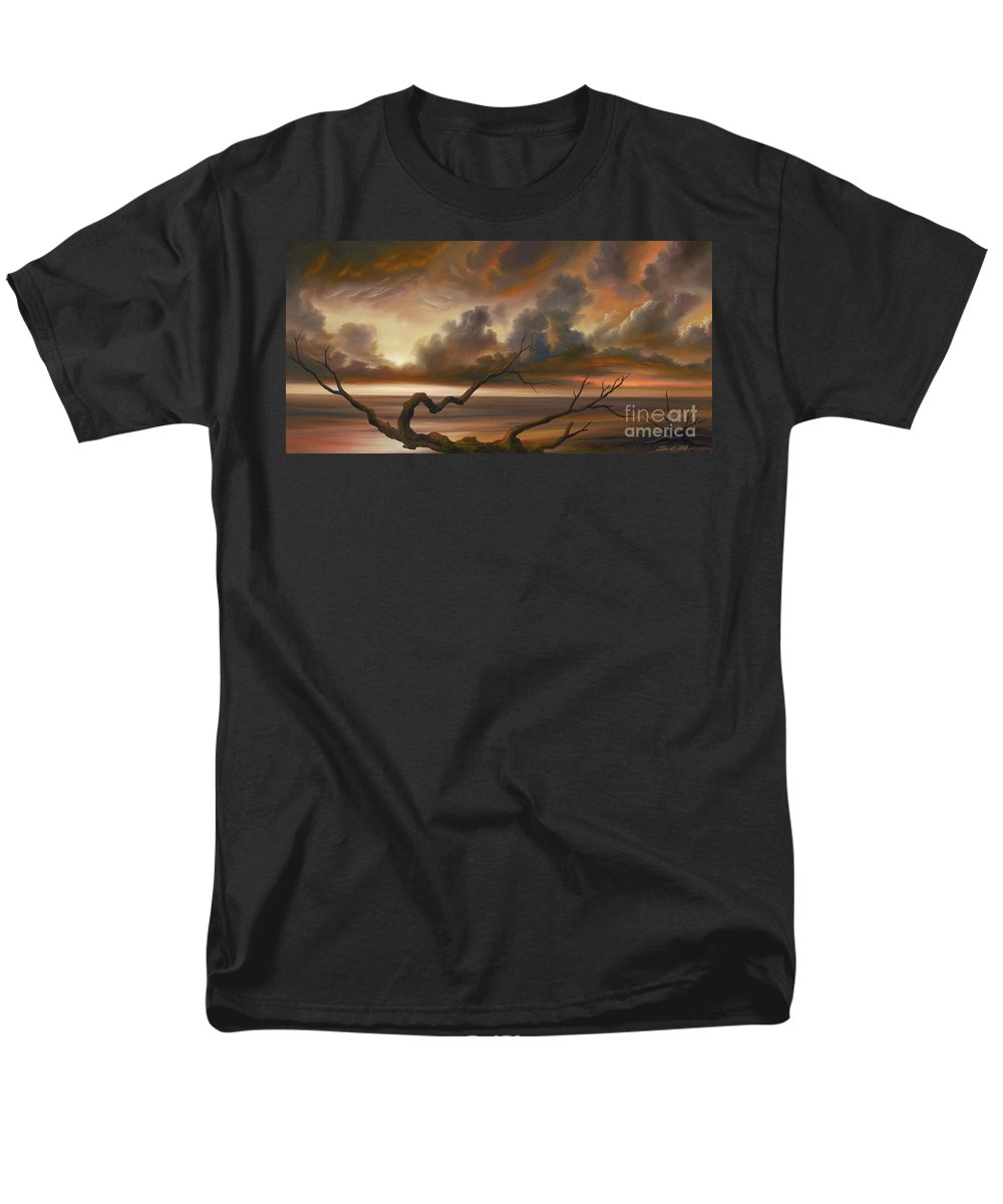 Ocean Men's T-Shirt (Regular Fit) featuring the painting Botany Bay by James Christopher Hill