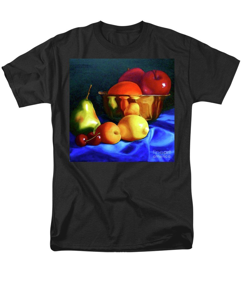 Still Llife Men's T-Shirt (Regular Fit) featuring the painting Brass Ensemble by Susan A Becker