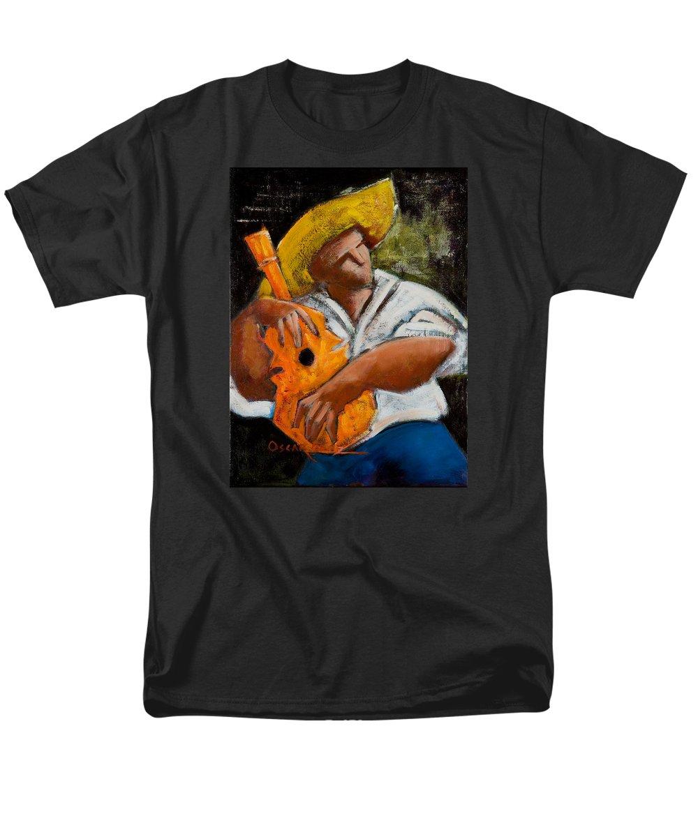 Puerto Rico Men's T-Shirt (Regular Fit) featuring the painting Bravado Alla Prima by Oscar Ortiz