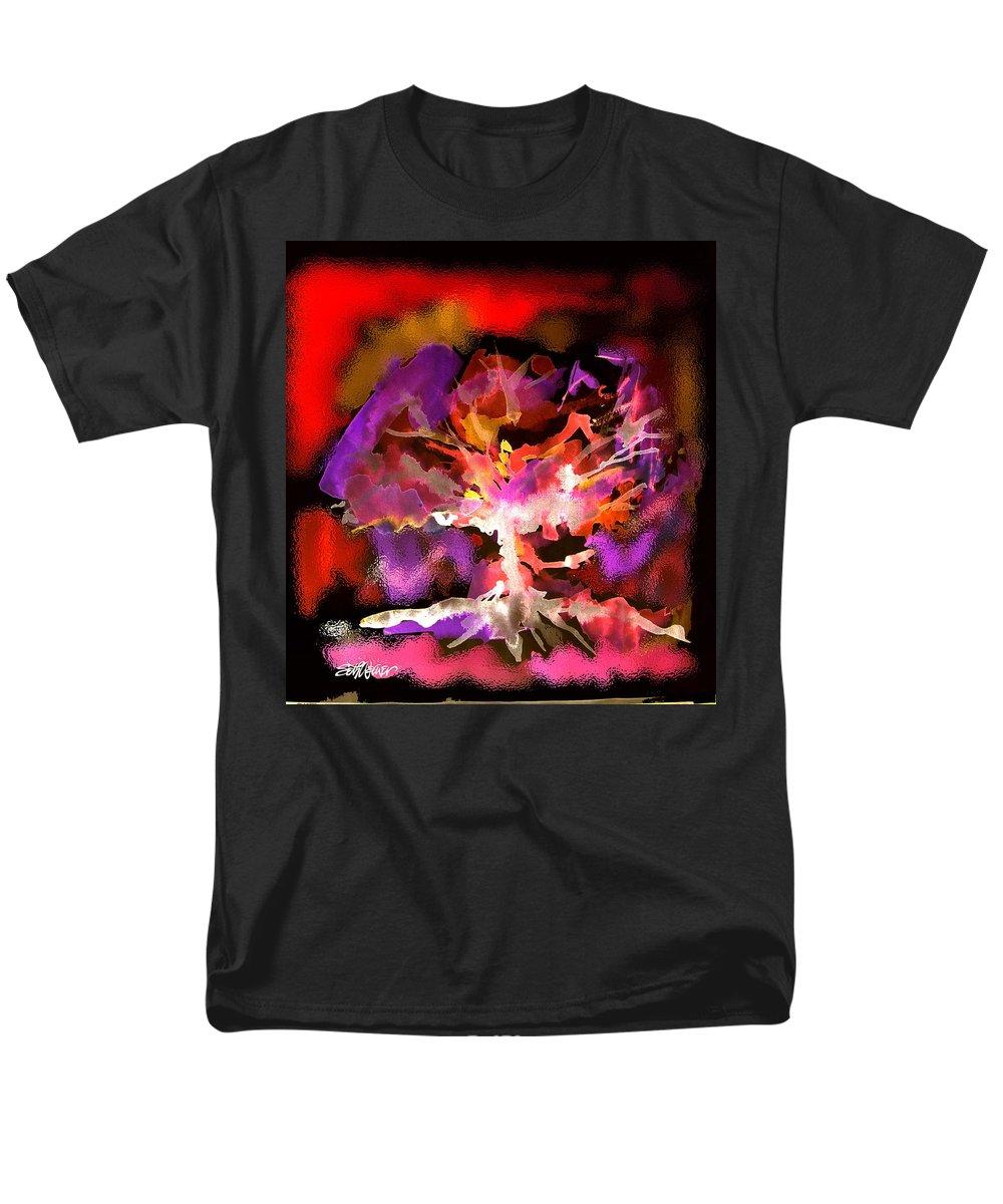 Bible Men's T-Shirt (Regular Fit) featuring the digital art Burning Bush by Seth Weaver