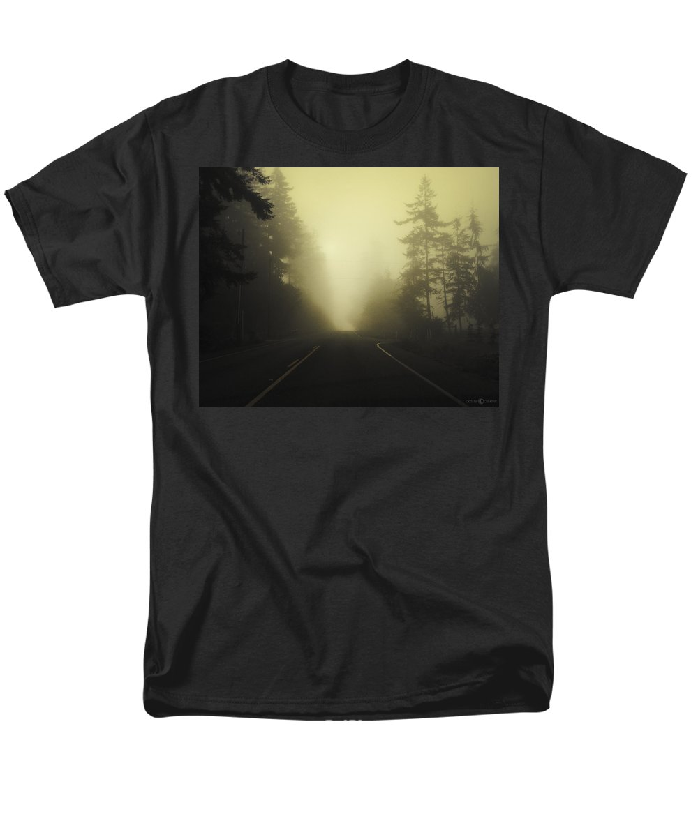 Fog Men's T-Shirt (Regular Fit) featuring the photograph Camano Island Fog by Tim Nyberg