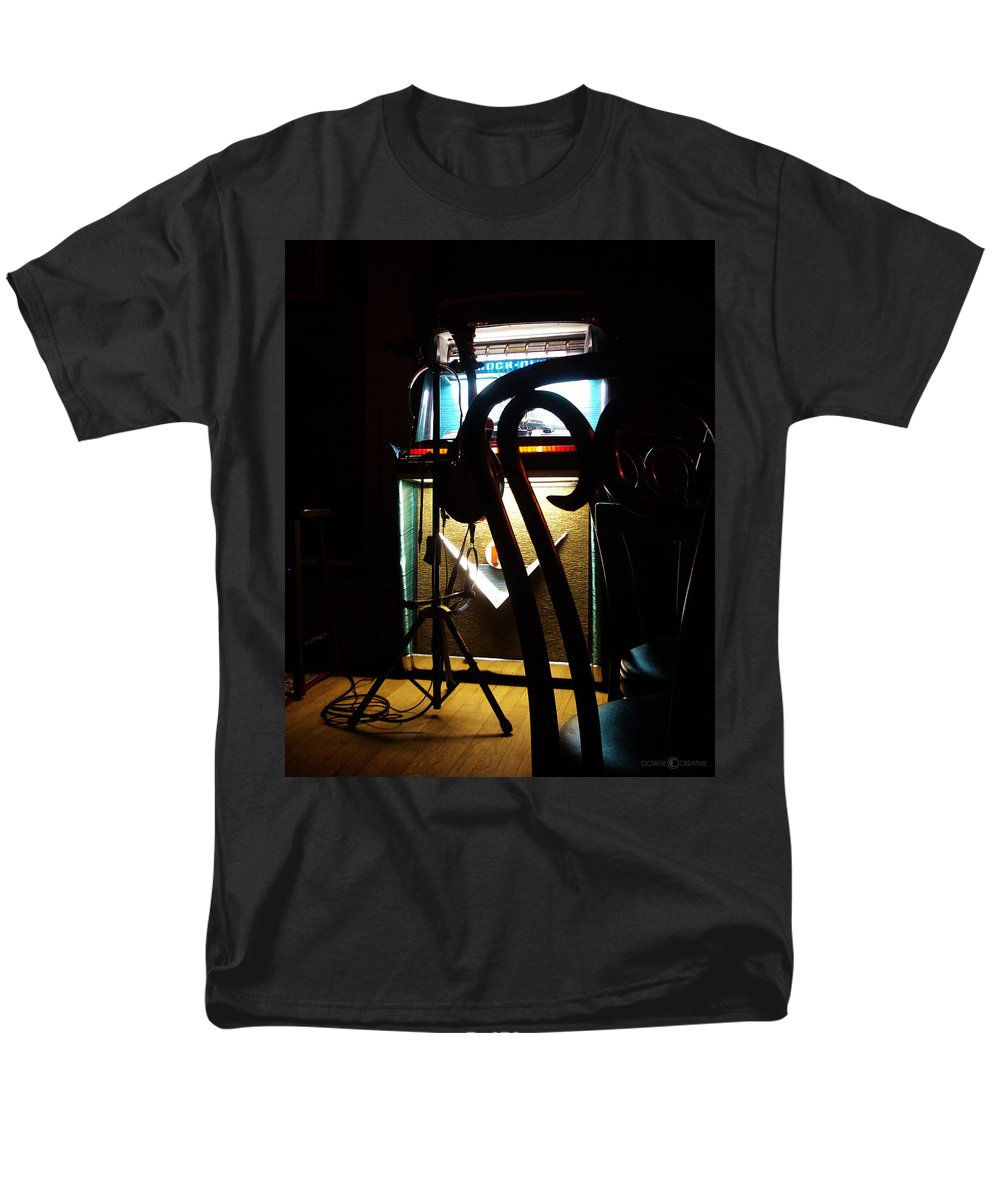 Music Men's T-Shirt (Regular Fit) featuring the photograph Canned Music by Tim Nyberg