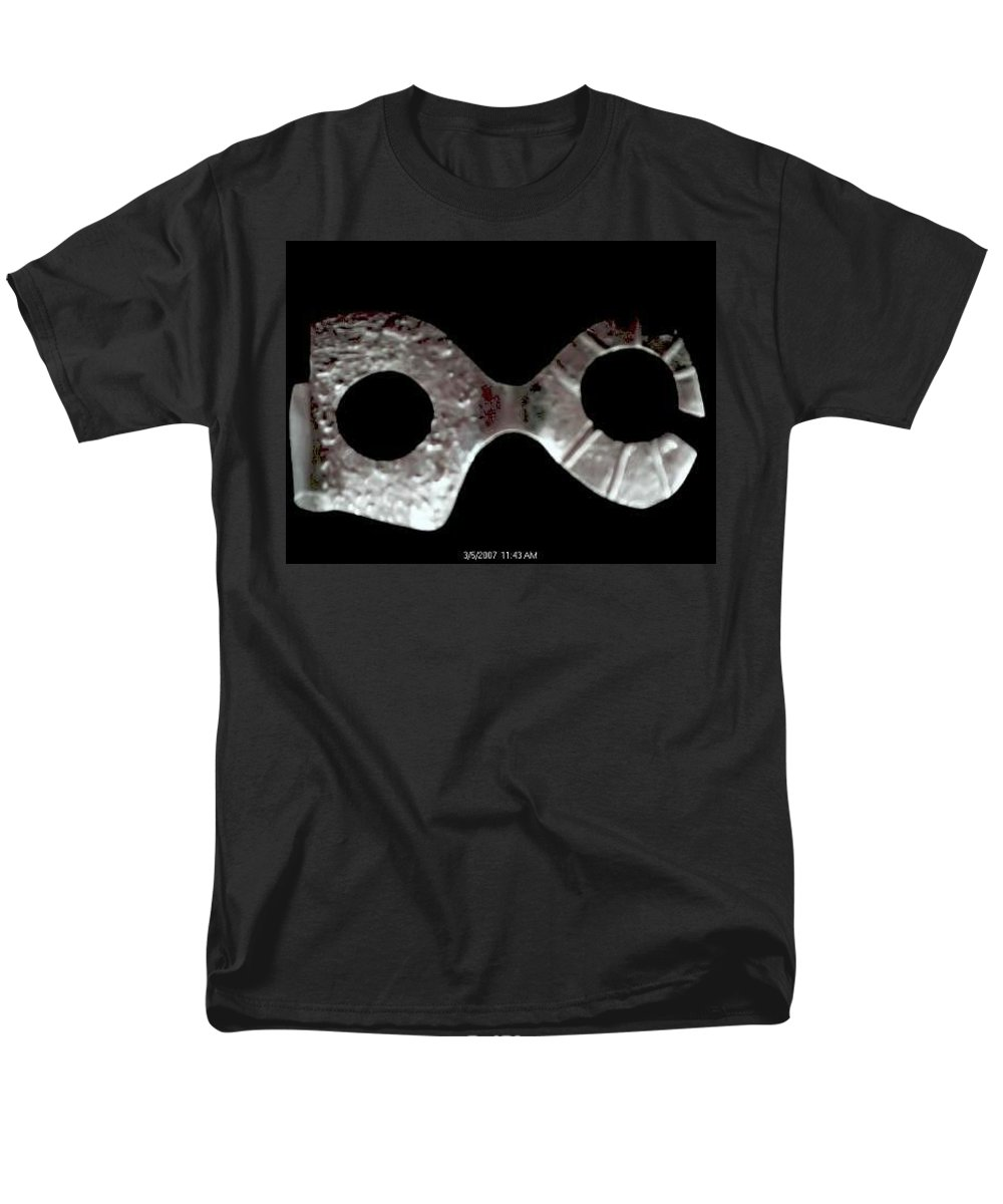 Carnival Type Face Mask For Wearing In .999 Fine Silver Men's T-Shirt (Regular Fit) featuring the photograph Carnival 002 by Robert aka Bobby Ray Howle