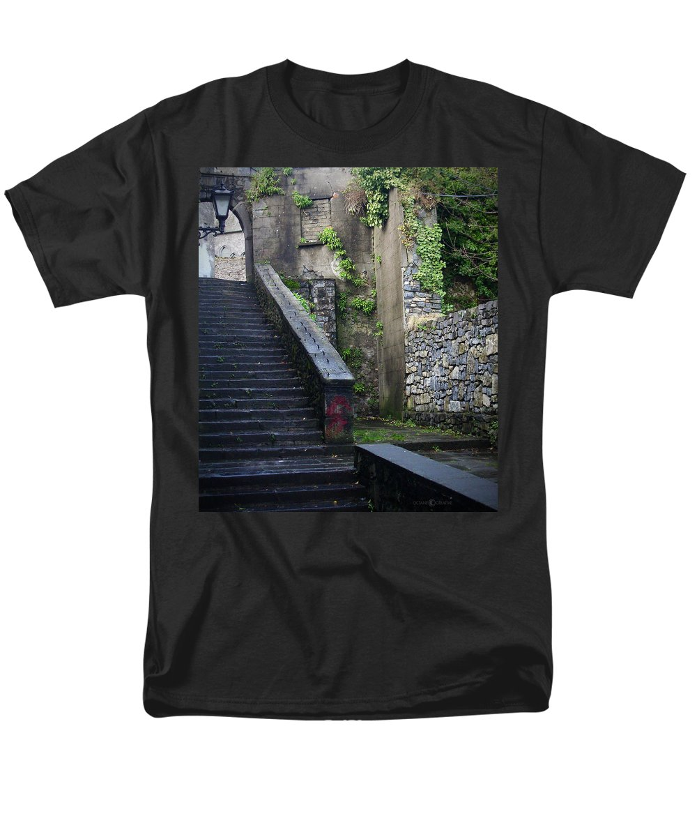 Stairs Men's T-Shirt (Regular Fit) featuring the photograph Cathedral Stairs by Tim Nyberg