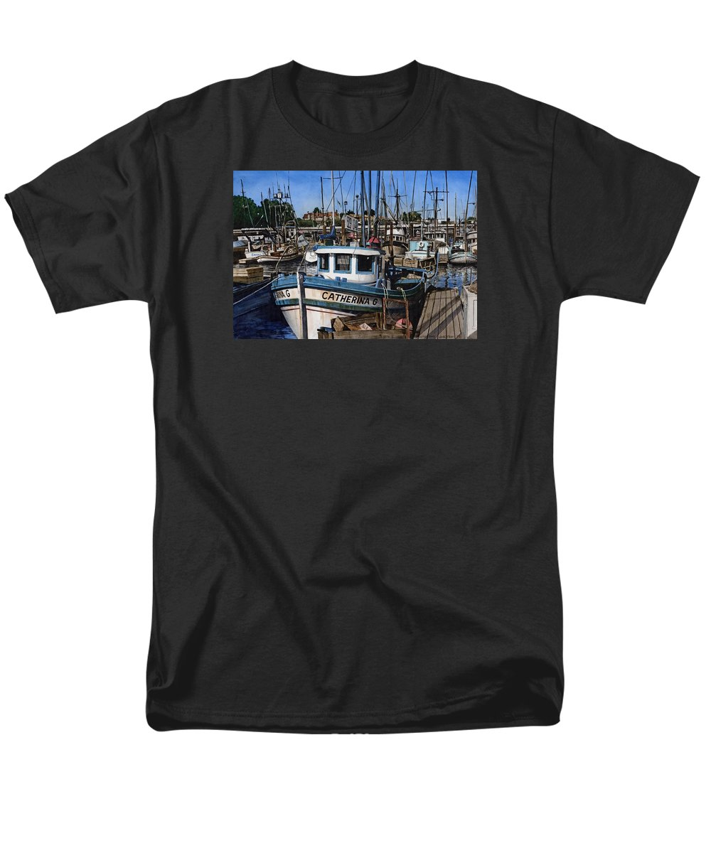 Transportation Men's T-Shirt (Regular Fit) featuring the painting Catherina G by James Robertson