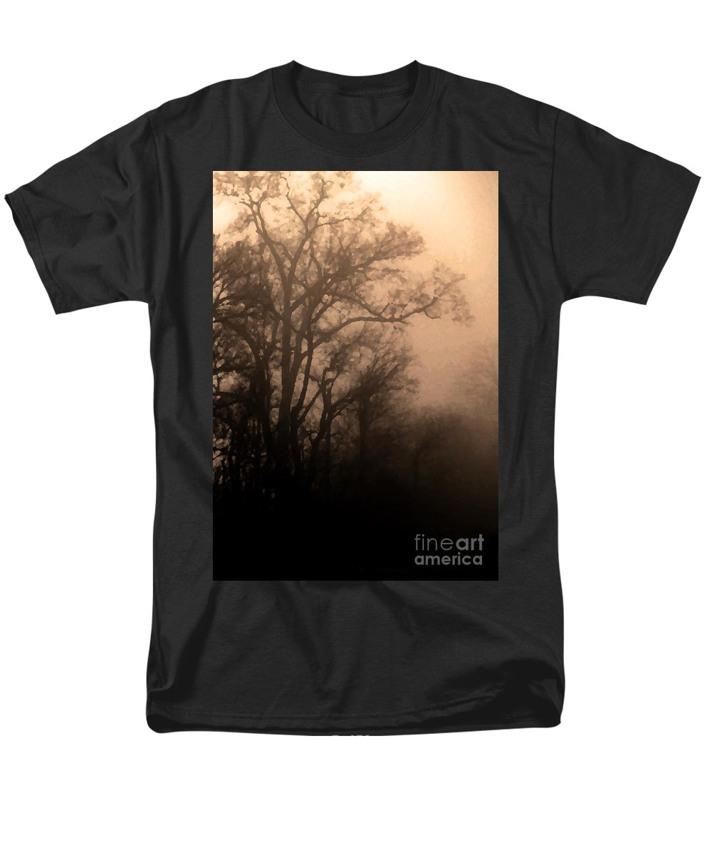 Soft Men's T-Shirt (Regular Fit) featuring the photograph Caught between light and dark by Amanda Barcon