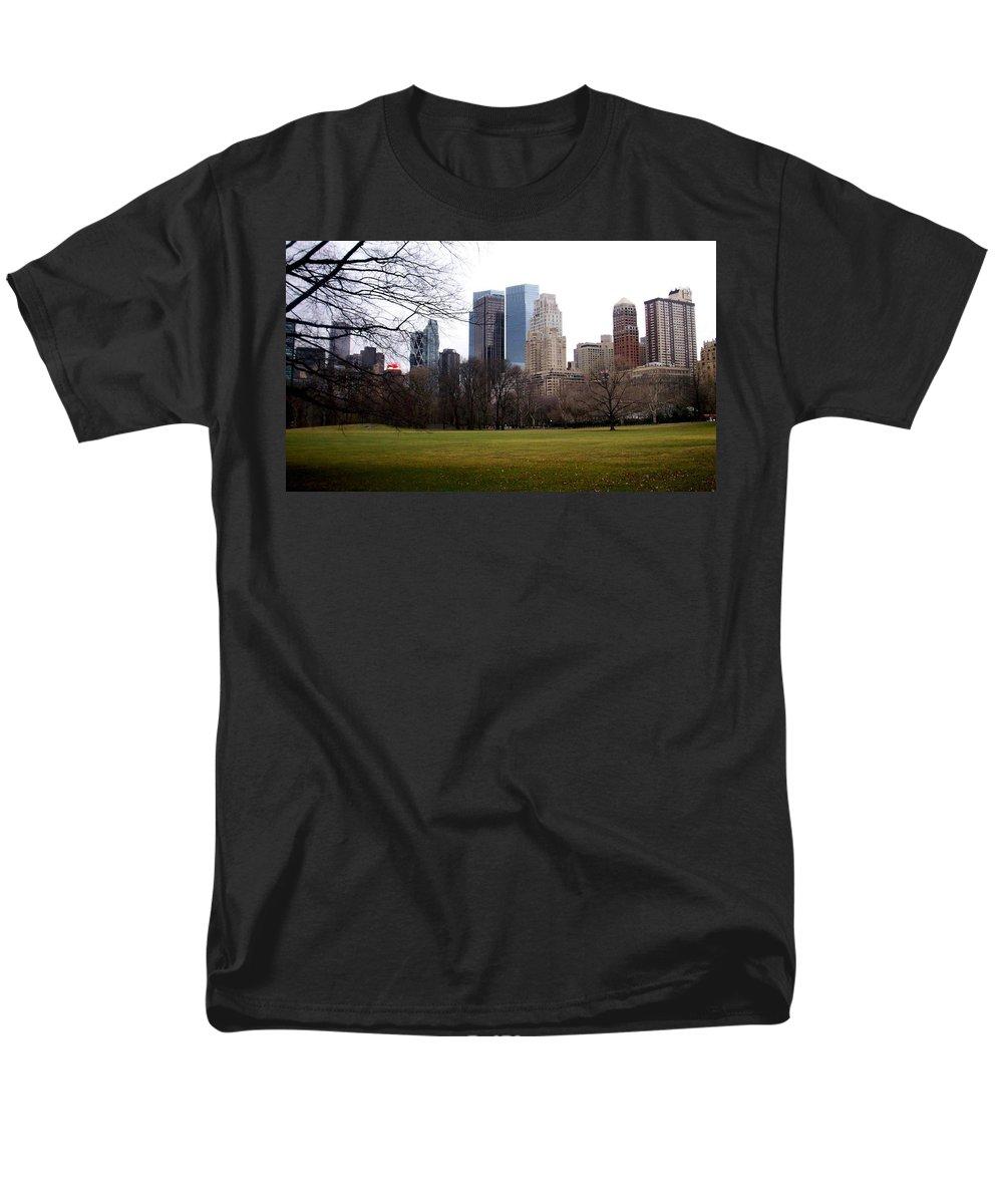 Central Park Men's T-Shirt (Regular Fit) featuring the photograph Central Park by Anita Burgermeister