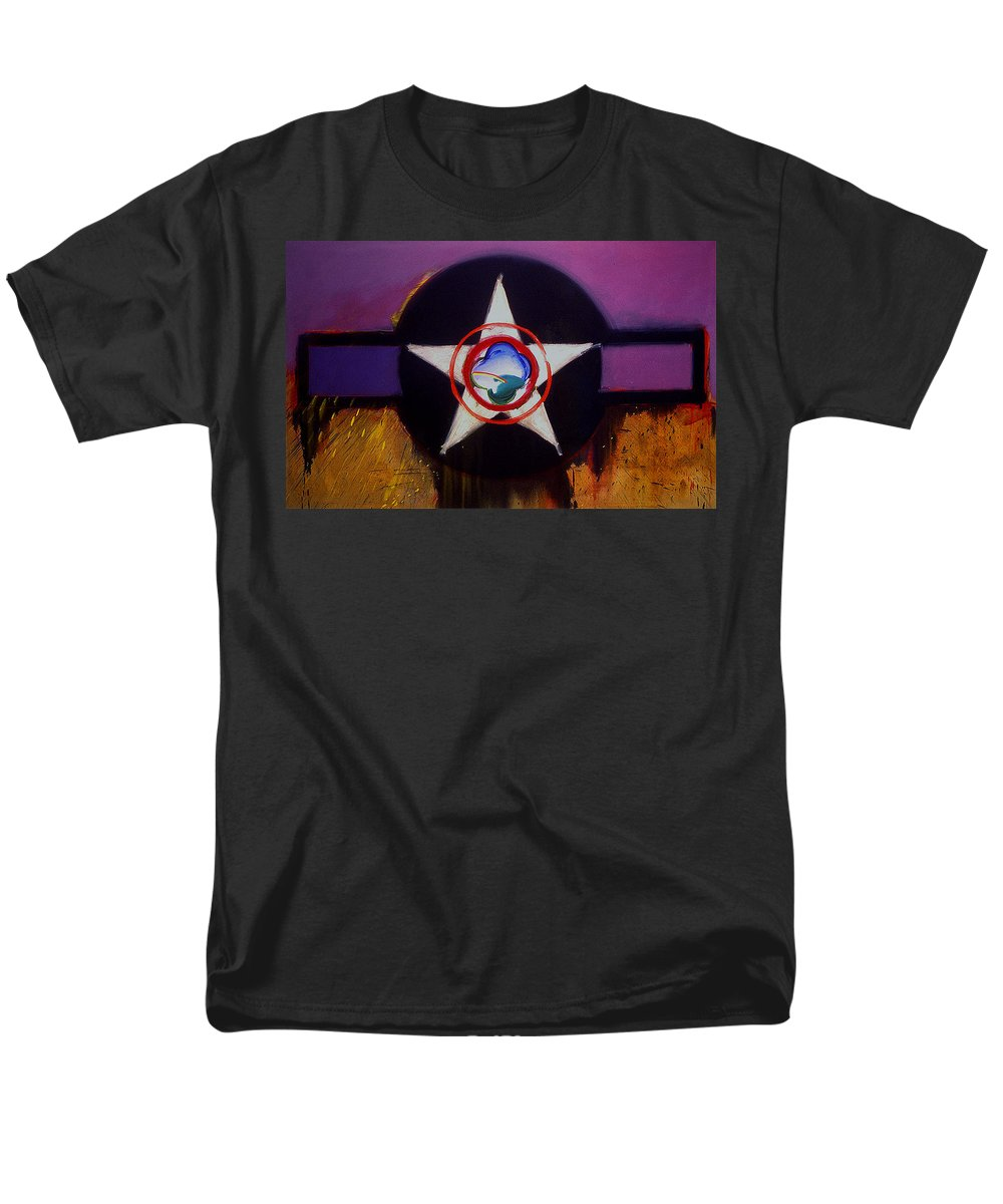 Air Force Insignia Men's T-Shirt (Regular Fit) featuring the painting Cheyenne Autumn by Charles Stuart